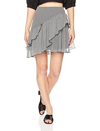 aab0ecc1f Finders Keepers Women's Horizons Skirt, Black Gingham, Extra Small