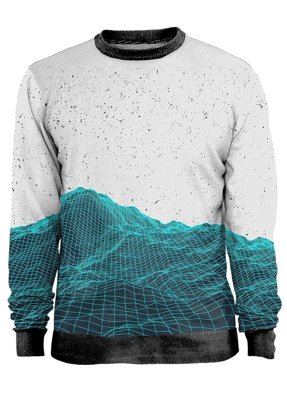 Blowhammer - Sweatshirt Herren- Planimetric Mountain - Grunge Urban Forme 3D Größe - XX-Large