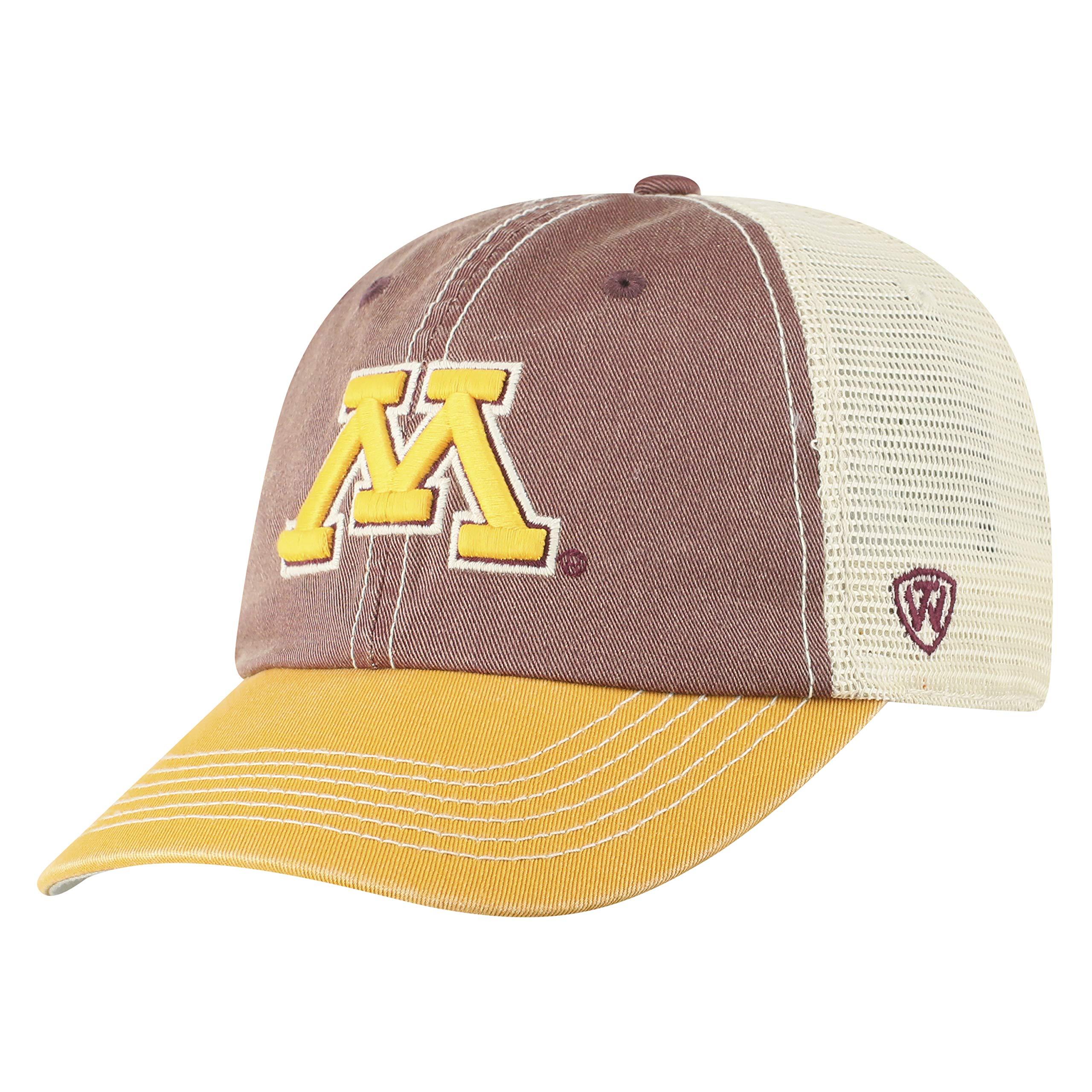 Top of the World NCAA Minnesota Golden Gophers Offroad Snapback Mesh Back Adjustable Hat, One Size, Maroon/Gold/Khaki