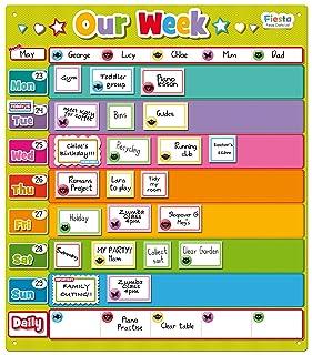 Fiesta - Calendario settimanale fai-da-te magnetico 'Our Week' [Lingua Inglese] Fiesta Crafts Ltd T-2742