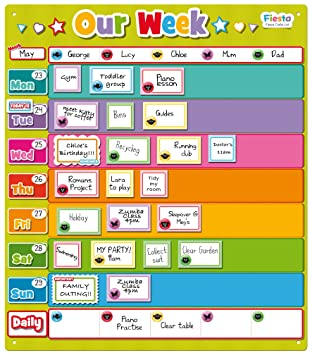 fiesta crafts our week magnetic planner activity chart amazon co uk