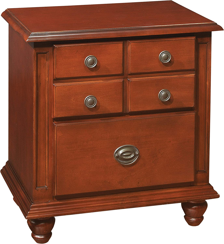 Glory Furniture 2 Drawer Nightstand, Cherry