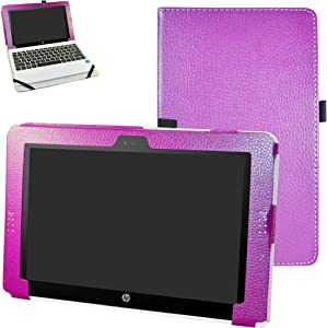 HP Pavilion x2 10 / HP x2 210 G1 Case,Mama Mouth PU Leather Folio Stand Cover for 10.1