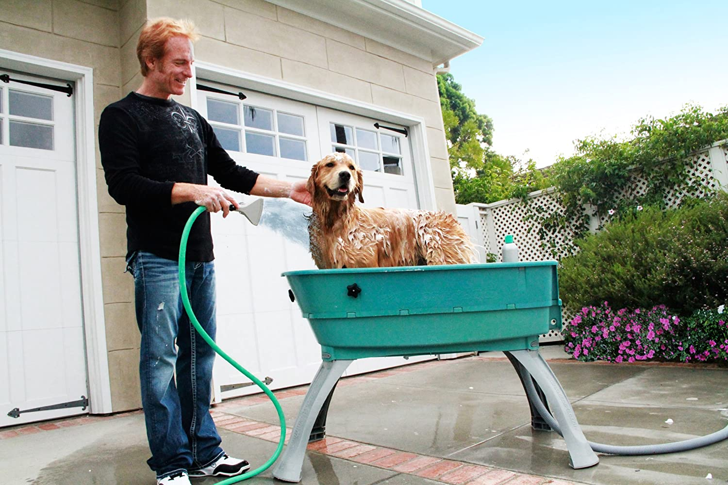 Attractive Amazon.com : Booster Bath Elevated Pet Bathing Large : Pet Shower  FV54