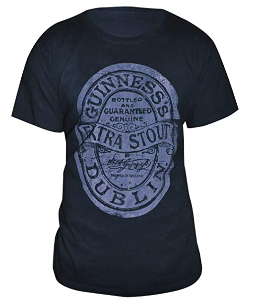 9e5b15f0 Amazon.com: Guinness Extra Stout Label Vintage Black T-Shirt ...