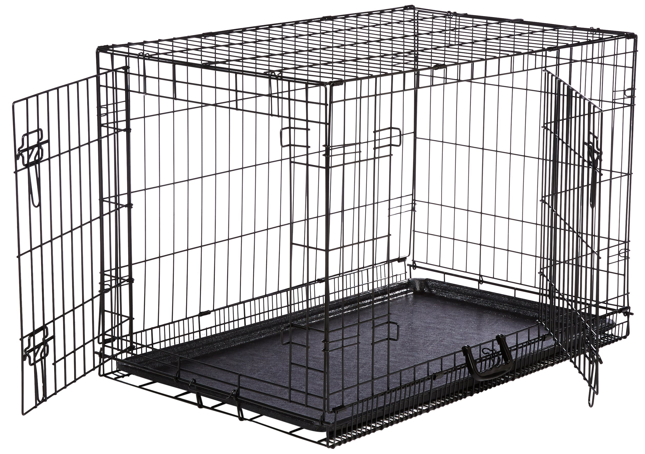 AmazonBasics Folding Metal Dog Crate Double-Door 36-inch