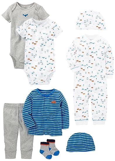 8a7966b3c Amazon.com: Simple Joys by Carter's Baby Boys' 8-Piece Gift Set ...