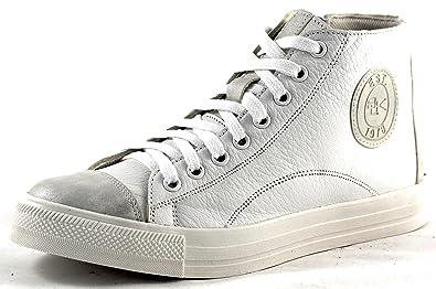 17222d40815d65 BLACK by Idana Hightop Leder Sneaker weiß Silber 251 222  Amazon.de ...