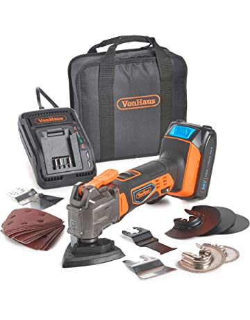 e541232fa2d VonHaus 20V MAX Cordless Oscillating Multi-Tool Kit with Variable Speed