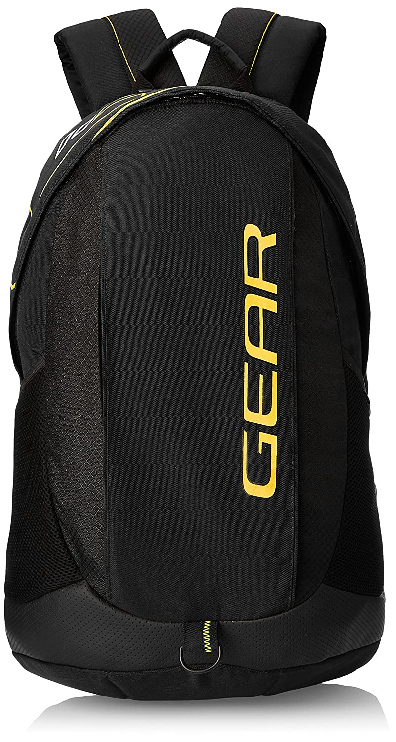 Gear 27 Ltr Black And Yellow Casual Backpack (BKPOTLNR80112)