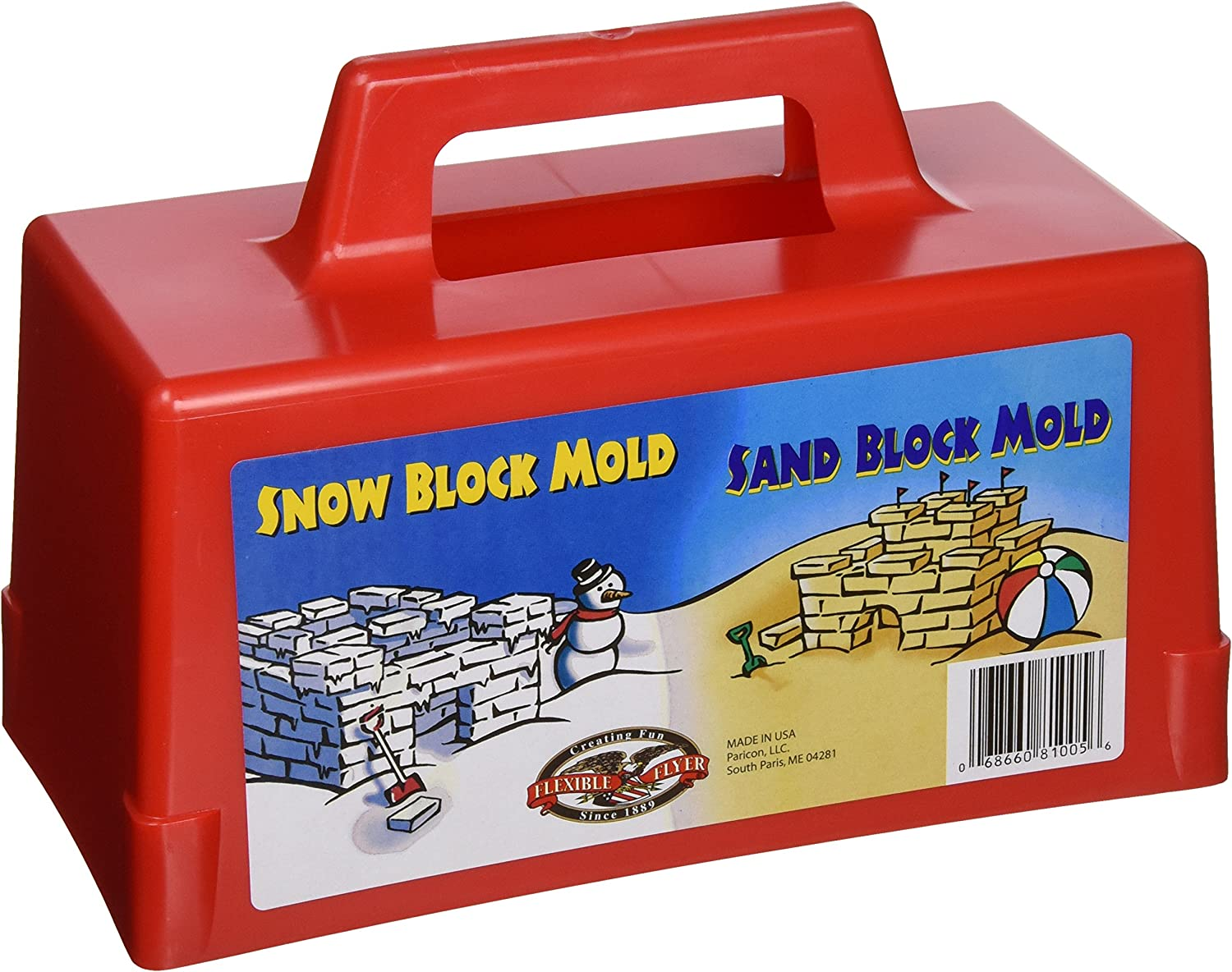 Flexible Flyer Snow Fort Building Block, Sand Castle Mold, Beach Toy Brick Form, 1 Mold (605): Sports & Outdoors
