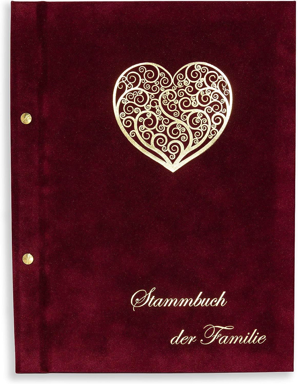 Wona - Libro de familia para bodas (tamaño A4), color rojo vino 11 fundas para folletos.: Amazon.es: Bricolaje y herramientas