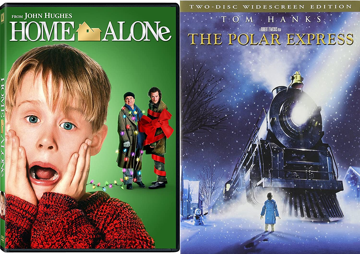 Family Holiday Classics Bundle - The Polar Express (Two-Disc Widescreen Edition) & Home Alone 2-DVD Bundle