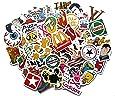 Stickerbomb Mega Mix aus 100 Retro- und Sponsoren- Sticker / Aufkleber