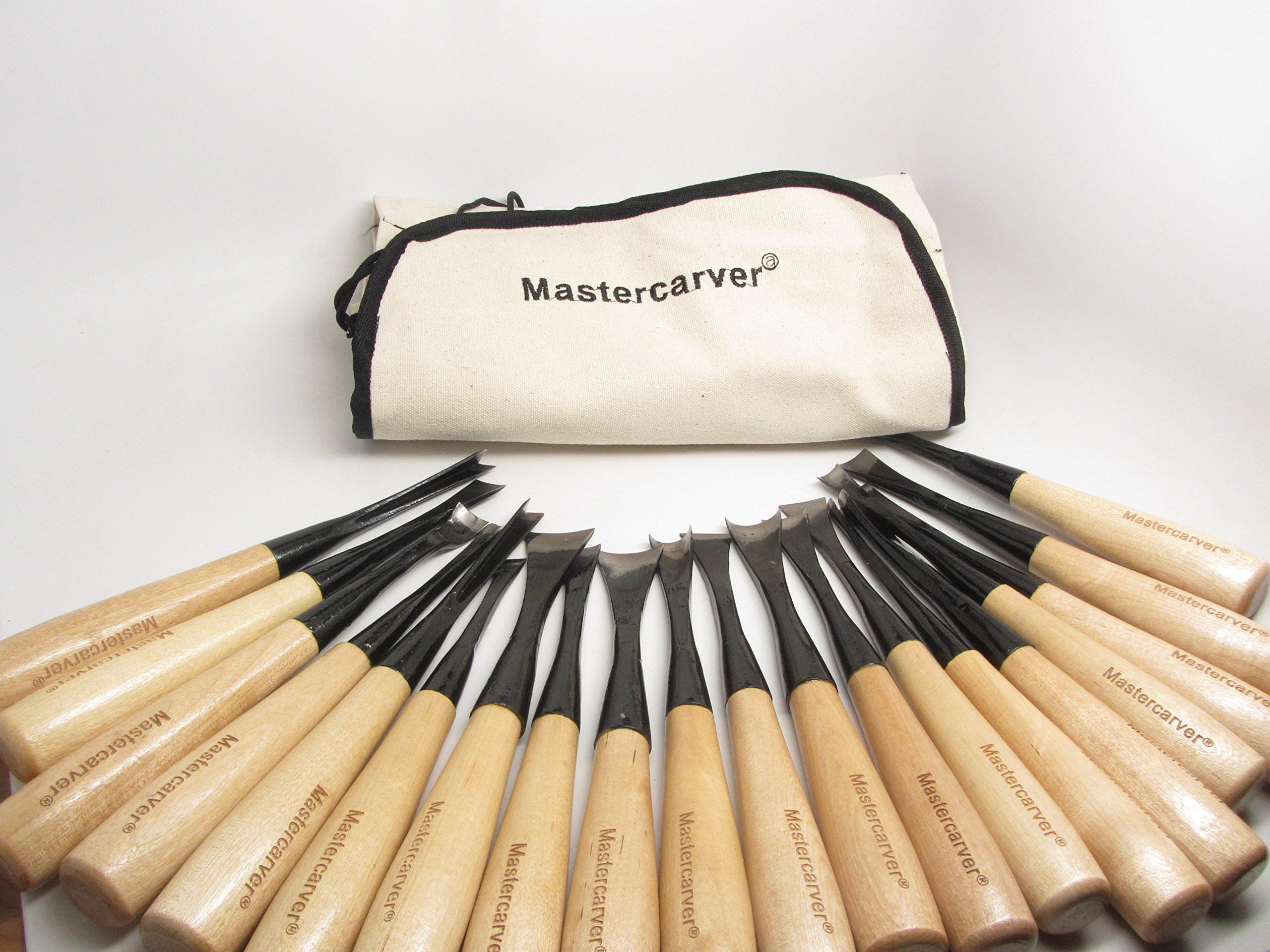 MASTERCARVER 20-piece Steel carving set High Carbon Steel