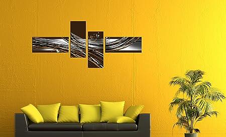 Cuadros en Lienzo - Arte abstracto Abstracto VIa marrón - 200x90cm ...