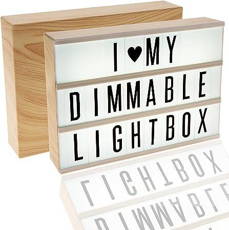 EnzZone 380 azulejos, caja de luz de cine con efecto de madera regulable, luz nocturna para
