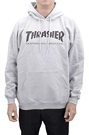 THRASHER - Sudadera Hooded Skate mag Hombre - Talla: One Size Gris Small: Amazon.es: Ropa y accesorios