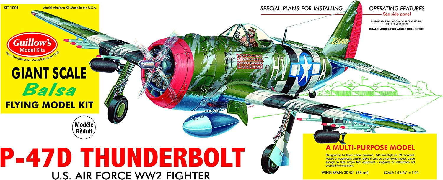 Guillow's P-47D Thunderbolt Model Kit