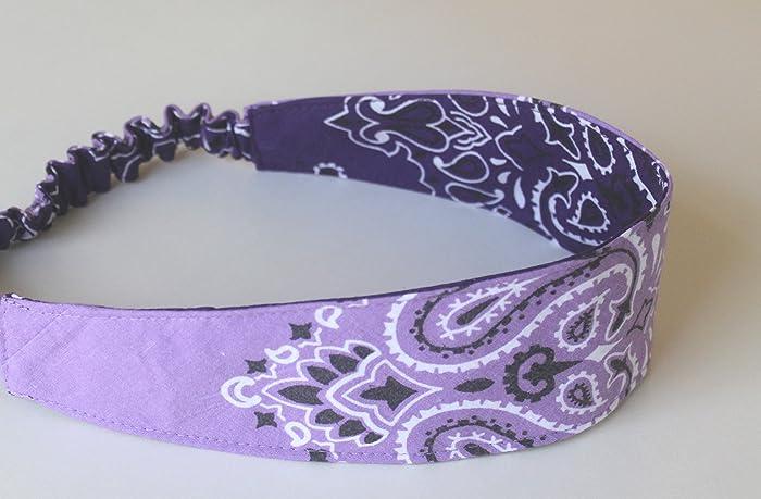 Amazon.com  Bandana Headband made with actual Bandanas 3504fe02e27