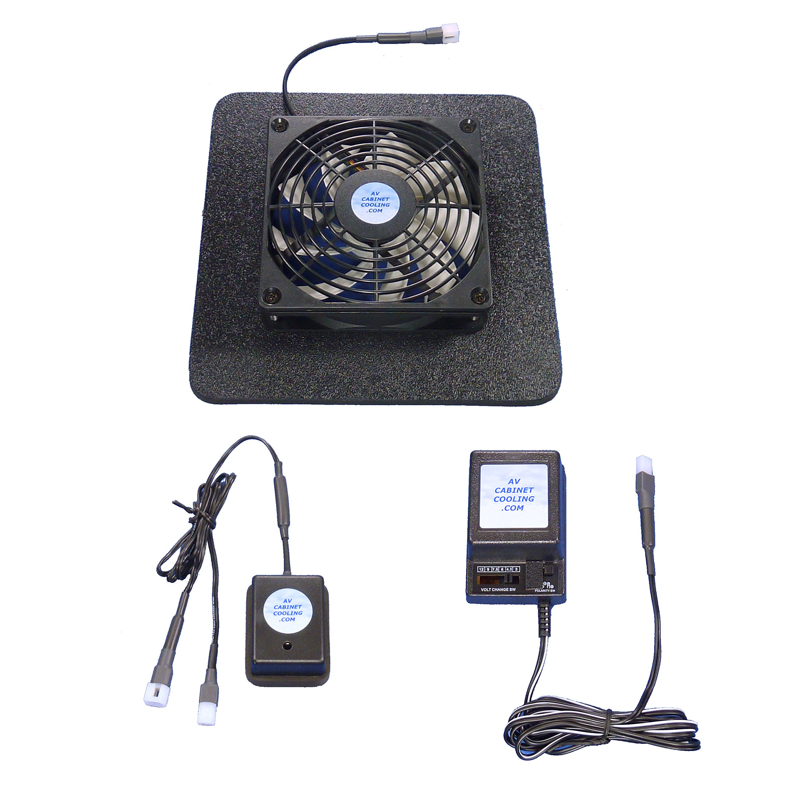 Receiver/Amp cooling fan with Super Airbase, thermoswitch & multi-speed control