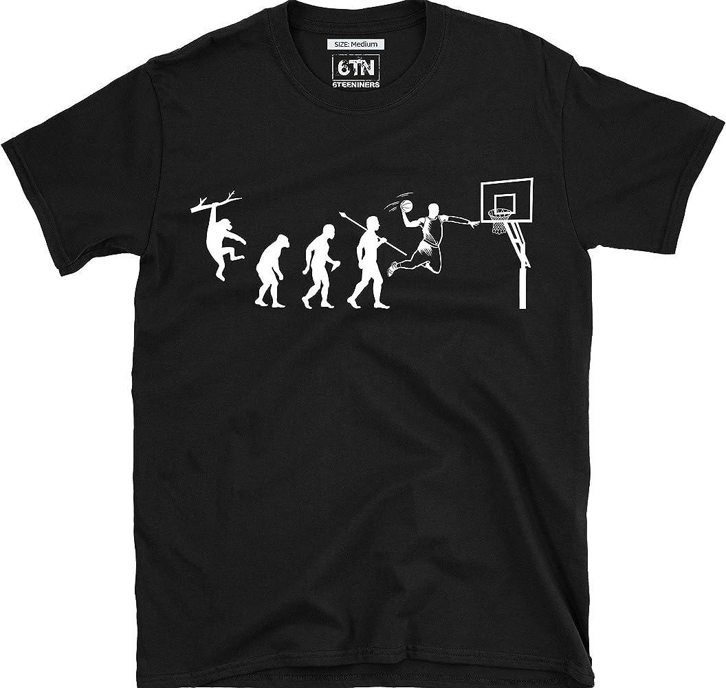 6TN evolución de Baloncesto Camiseta - Negro, Small: Amazon.es ...