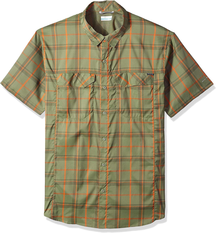Columbia Silver Ridge Lite Camisa de Manga Corta a Cuadros para Hombre, Hombre, Color Mosstone Large Plaid, tamaño Medium: Amazon.es: Deportes y aire libre