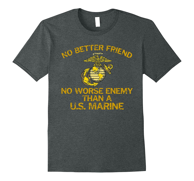 General Mattis No Better Friend Quote Faded Grunge T-Shirt