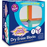 "Mind Sparks Dry Erase Blocks, Assorted Colors, 3"" x 3"", 4 Blocks"