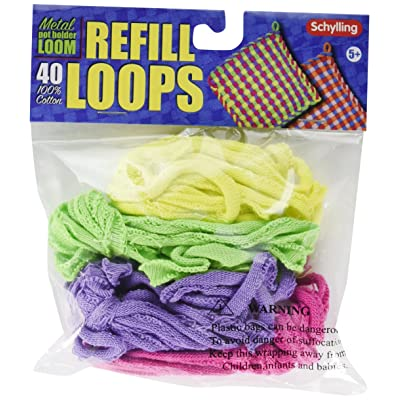 Loop Refills for Metal Potholder Loom: Toys & Games