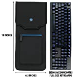 ENHANCE Keyboard Sleeve Travel Case for Full-Size