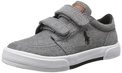 Polo Ralph Lauren Kids Faxon II EZ Sneaker (Toddler),Grey,4 M