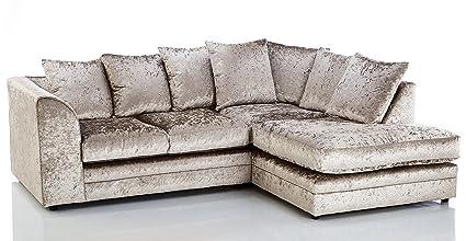 The Sofa & Bed Factory Sofá esquinero de 3 plazas de ...