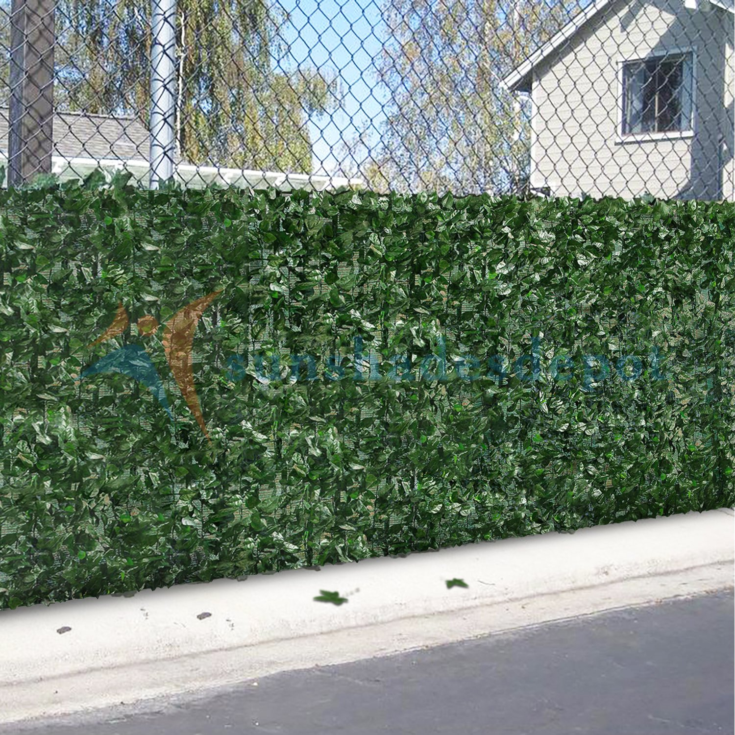 Sunshades Depot 4' x 14' Artificial Faux Ivy Privacy Fence Screen Leaf Vine Decoration Panel with Mesh Back by Sunshades Depot (Image #7)
