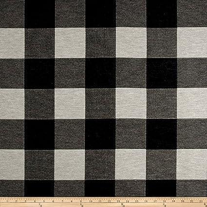 Amazon Com Fabric Artistry Buffalo Check Jacquard Black White