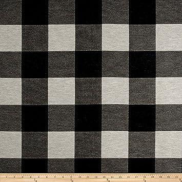 Amazon Com Fabric Fabric Artistry Buffalo Check Jacquard Black White