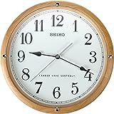 Seiko QXR303Z - Reloj de pared de madera con radiocontrol