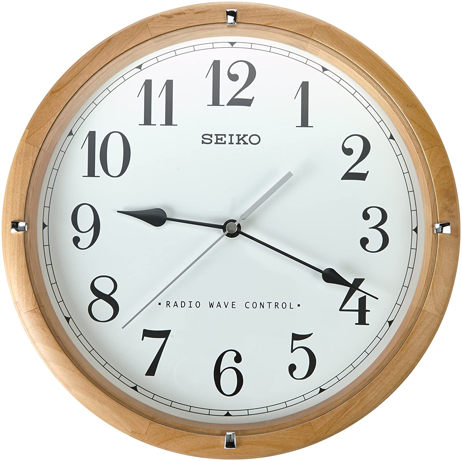 Seiko qxr303z radio controlled wooden wall clock amazon seiko qxr303z radio controlled wooden wall clock amazon kitchen home amipublicfo Image collections