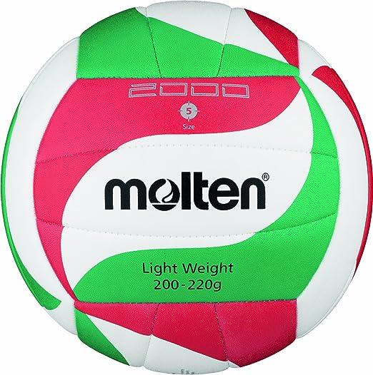 17 opinioni per Molten- V5M2000-L, Pallone da pallavolo, colore: Bianco/Verde/Rosso