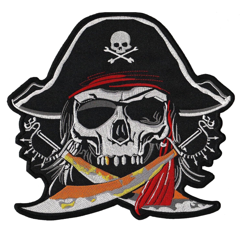 Pirata Calavera Back Patch Wolfszeit/ /Parche para espalda XXL 23/x 22/cm