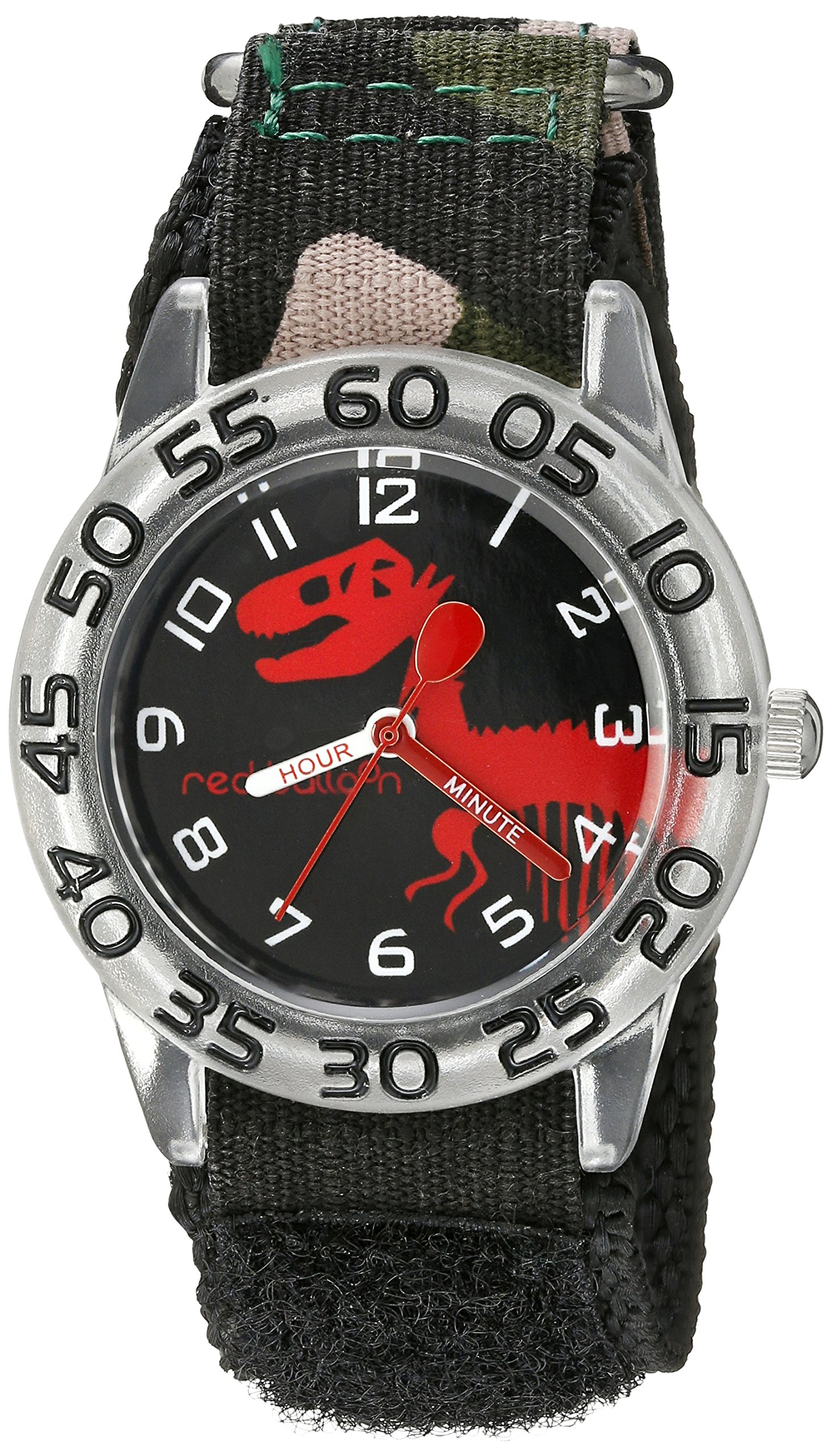 Red Balloon Kids' W002273 Time Teacher Analog Display Analog Quartz Black Watch by Red Balloon