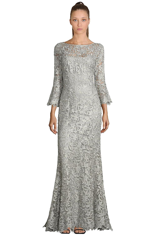 Teri Jon Lace Bell Sleeve Evening Gown Dress at Amazon Women\'s ...