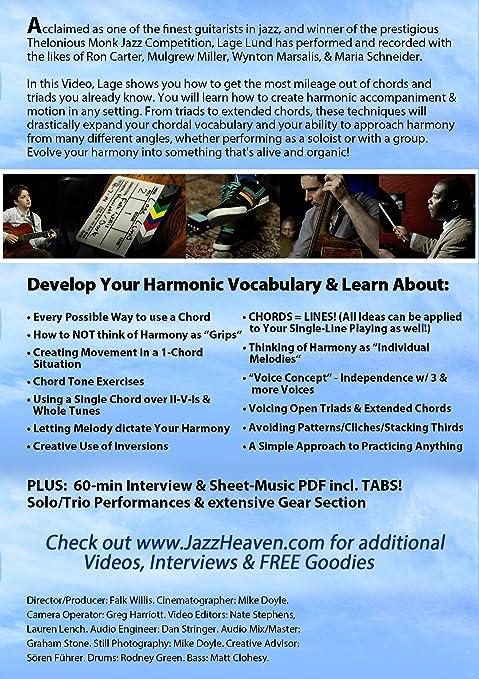 Amazon Jazz Guitar Lesson Dvd Lage Lund Jazz Guitar Chordal