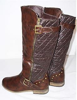 Spot On Girls Flat Calf High Boots