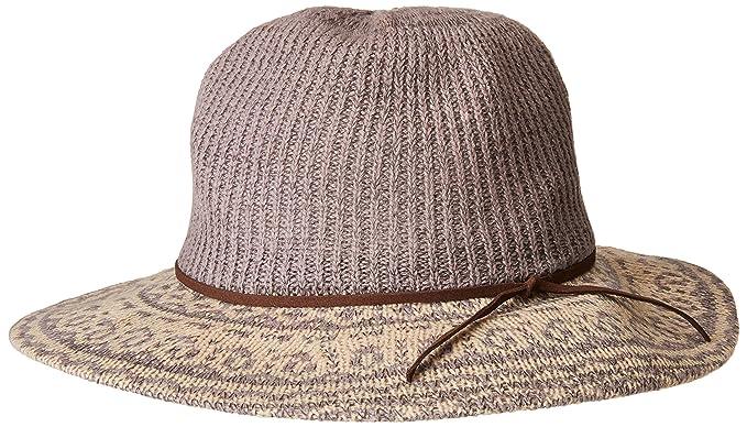 b5e79f6e7ae San Diego Hat Company Women s 3.25 Brim Knit Fedora with Faux Suede Trim