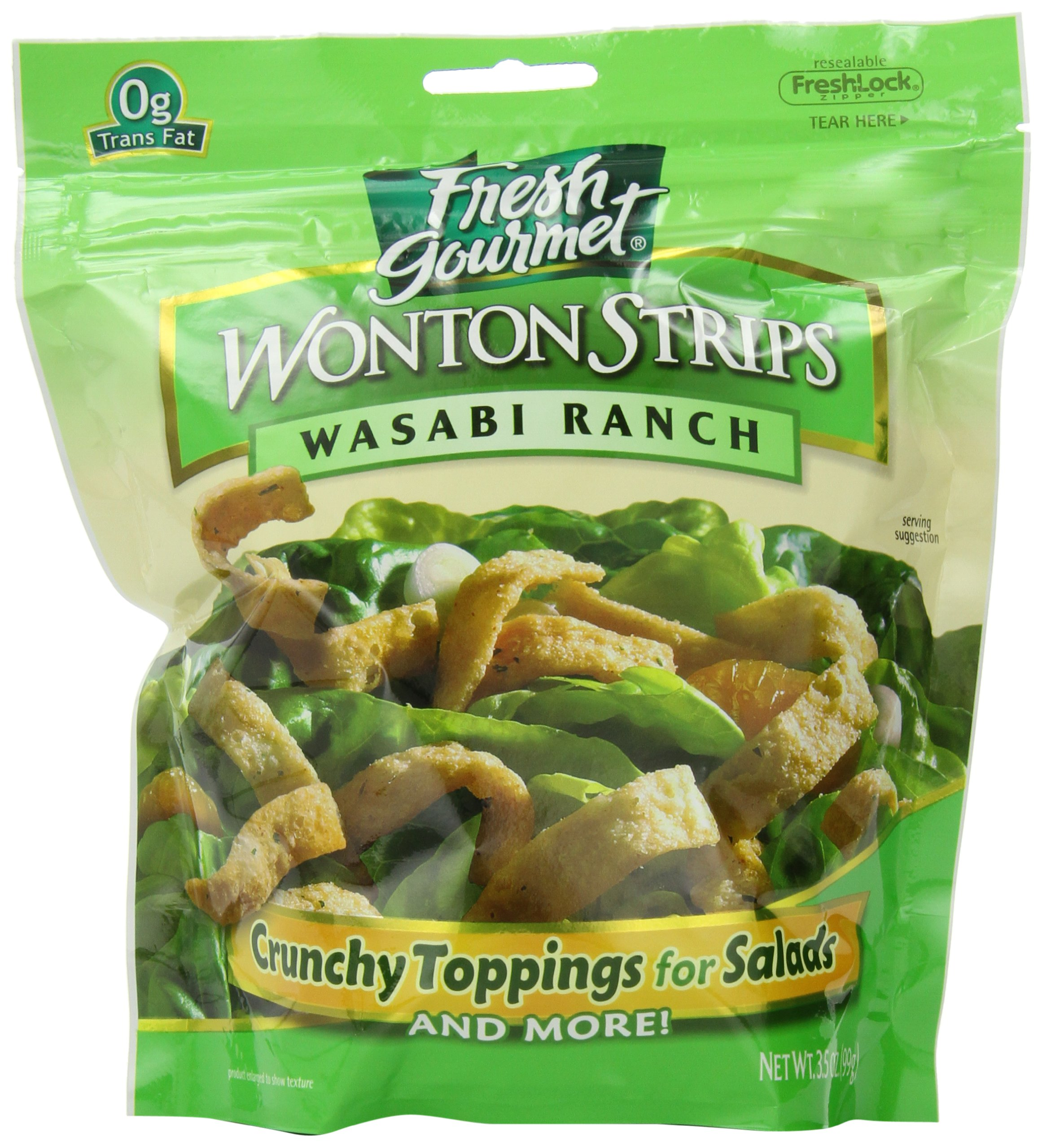 Fresh Gourmet Won Ton Strips, Wasabi Ranch, 3.5 Ounce (Pack of 9)