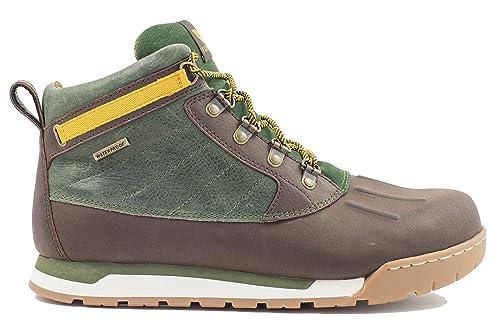 Forsake Duck - Men's Waterproof Leather Performance Sneakerboot (8,  Brown/Forest)