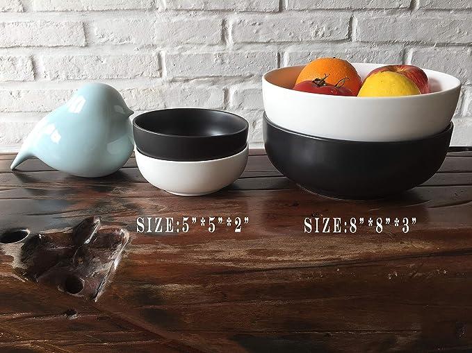 Amazon.com: Juego de cuencos de porcelana para servir ...
