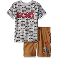 Marc Ecko Boys Short Sleeve All Over Logo T-Shirt and Short Set Shorts Set