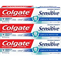 Colgate Sensitive Toothpaste, Complete Protection, Mint - 6 ounce (3 Pack)